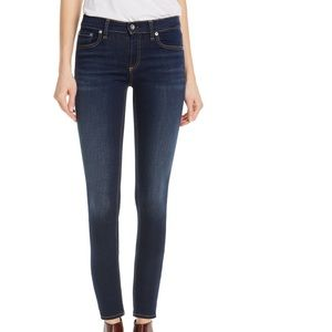 rag & bone dark wash ankle skinny jeans